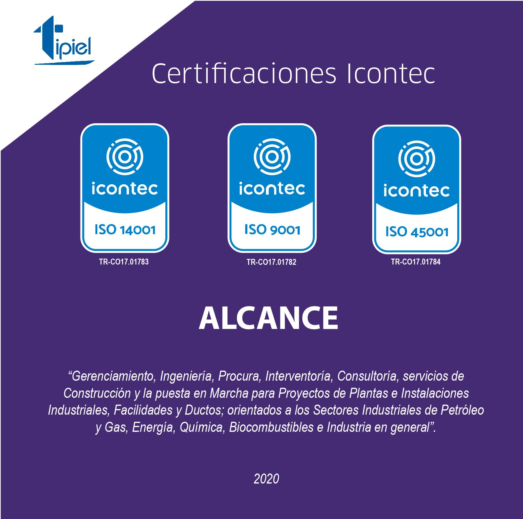Certificaciones Icontec 2020